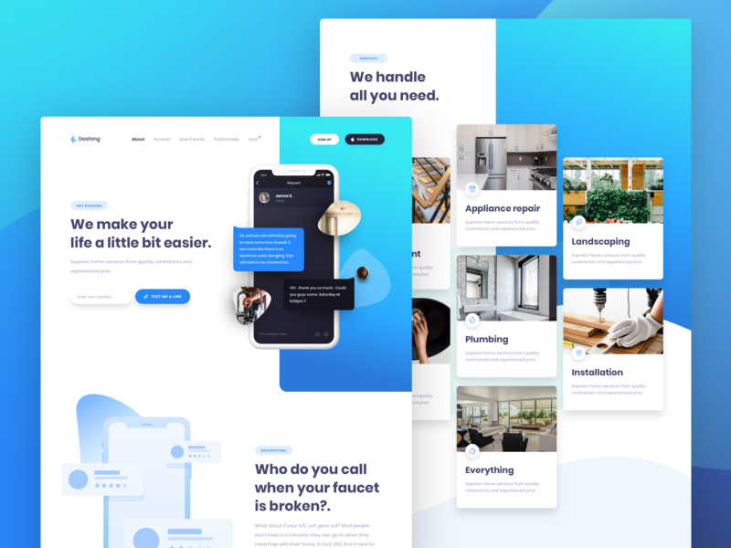 Dashing Web Design ux  ui landing  page indicius bons agency design ui web design landing dashing web