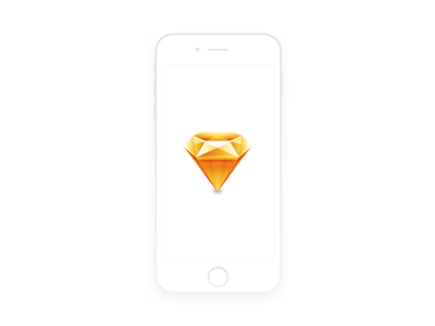 iPhone 6 Sketch - Freebie minimal white resource free download freebie mockup iphone 6 app sketch