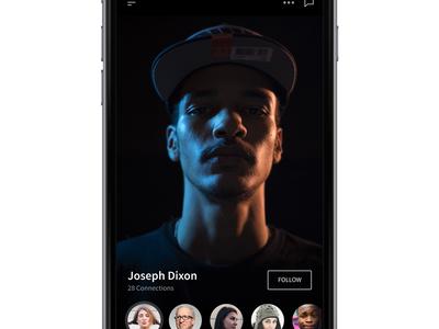 Profile with Figma 👤 design prototype framer follow face ux ui ios app profile figma