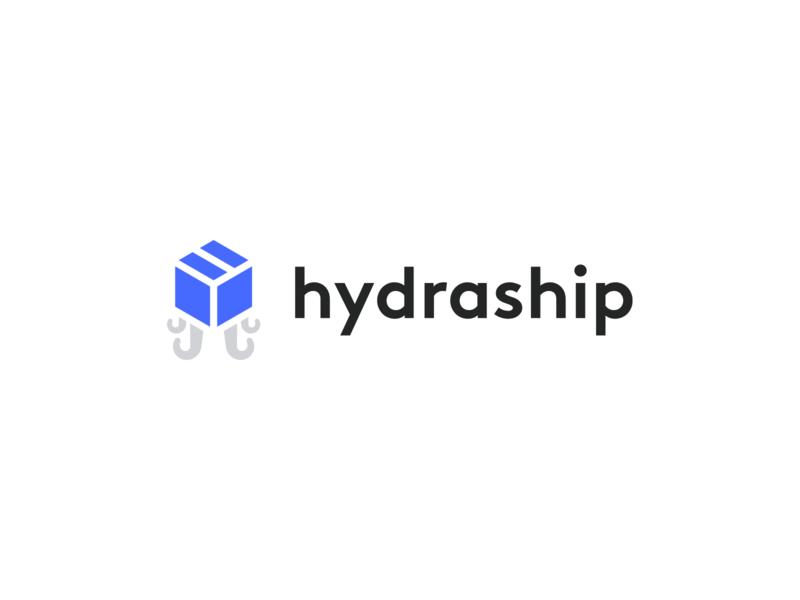 Hydraship — Logo web app webapp digital product mark shipping ship box logo