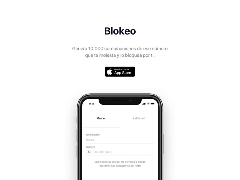 Blokeo download website landing page page landing app store call app ios