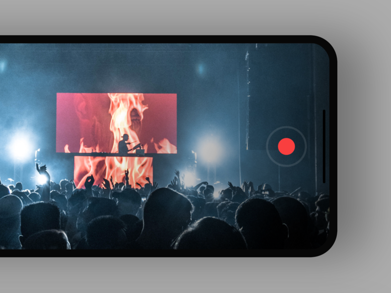 10min project enjoy concert recording ios black ui app minimal
