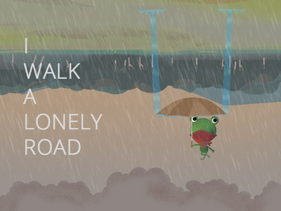 Don't know where to go!! water illustration google weather rain frog ux ui