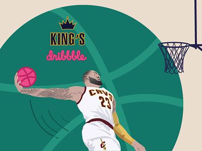 LeBron James nba basketball illustration cavs cleveland first shot debut shot lebron james