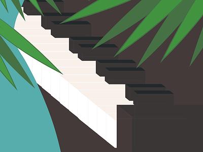 Play me music piano geometric abstact minimalist illustration