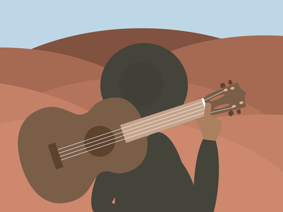 I'm Gonna Leave This Town And Start A Band freedom musician guitar music minimalist illustration