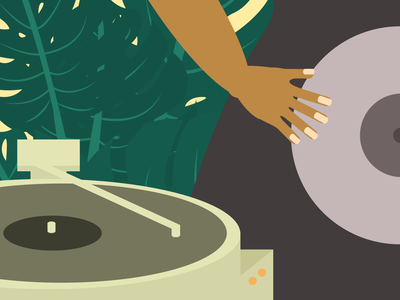 Sometimes In My Spare Time vynil music minimalist illustration