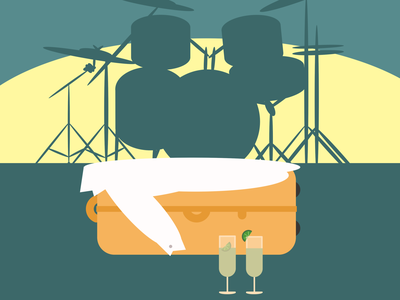 Whatever Fits Beside A Drum Set drums music geomtric abstact minimalist illustration