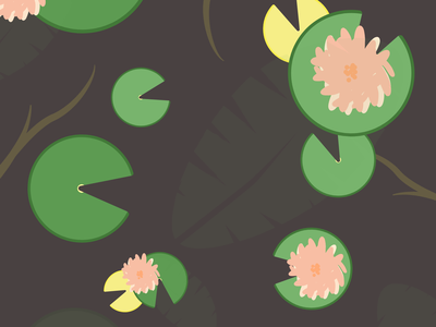 Dear Waterlily nature plants exotic botanical floral waterlily summer abstact minimalist illustration