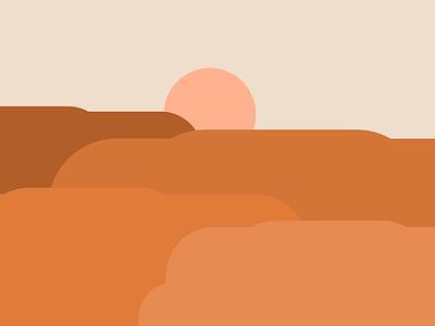 Sunset Basics geometric abstact minimalist illustration