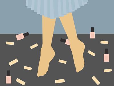 Summer Dance barefoot mood home fashion minimalist illustration
