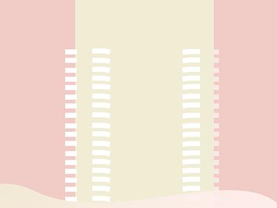 Intercontinental bucharest buildings travel architecture abstact minimalist illustration