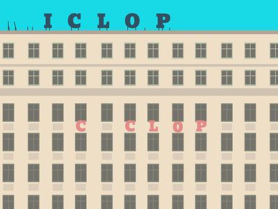 CICLOP travel bucharest modern architecture buildings architecture geometric abstact minimalist illustration