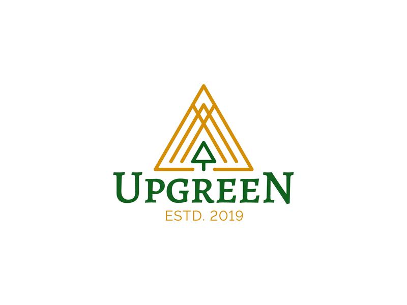 Upgreen Logo monoline tree logo branding textured icon logo