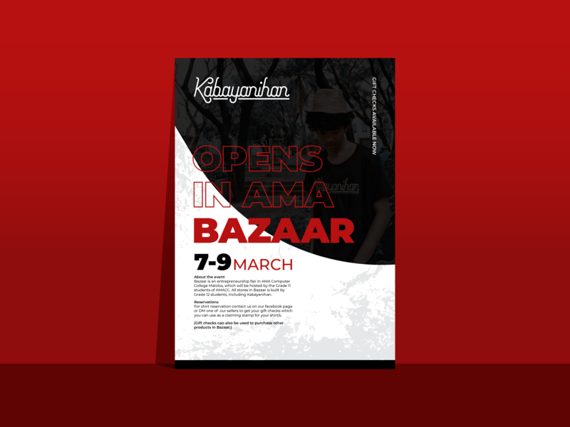 Kabayanihan Poster contrast monoline typography red texture poster