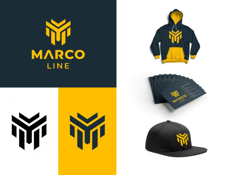 Marco Line Logo Presentation by Karl Fresnoza | Dribbble | Dribbble