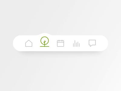 skycrops - micro interaction bottom menu principle app app microinteraction mobile