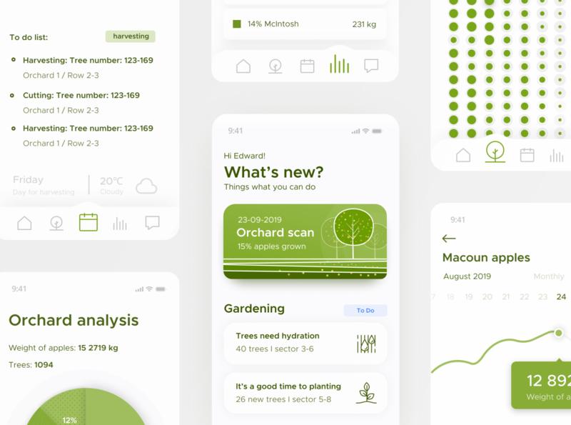 skycrops - main screen bigdata app mobile data visualization product design