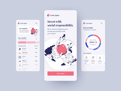 good apples - social responsibility invest app design sprint mobile app product design