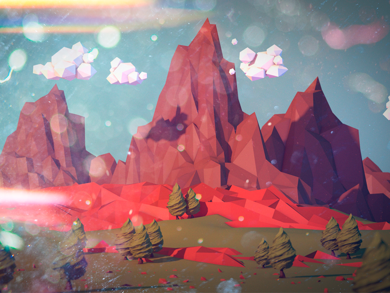 Magic Mountains c4d mountain lowpoly