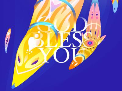 God Bless You vector graphics god bless you