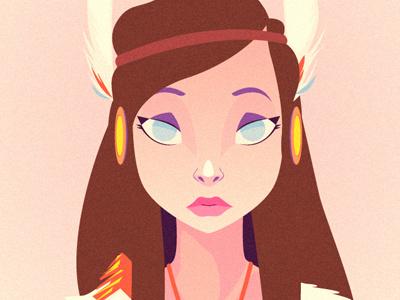 Indian girl vector graphics indian girl illustration