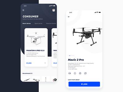 Drone Buying App 设计 ui