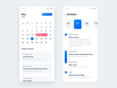 Calendar calendar design 设计 ui