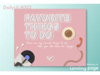 """DailyUI#003 """"landing page"""""""