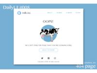 """DailyUI#008 """"404 page"""""""