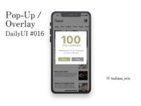"DailyUI#016 ""Pop-Up/Overlay"""