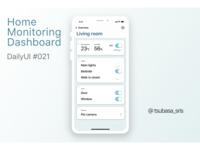"DailyUI#021 ""Home Monitoring Dashboard"""