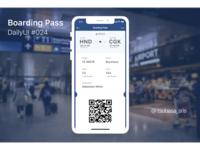 """DailyUI#021 """"Boarding Pass"""""""