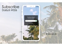 "DailyUI#026 ""Subscribe"""