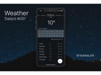 "DailyUI#037 ""Weather"""