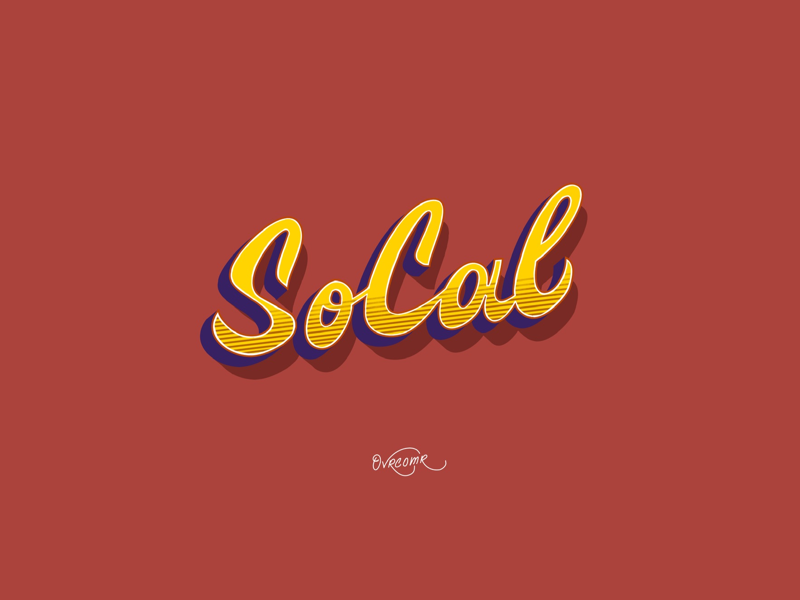 Southern California drawing photography calligraphy southern california california quote logo branding cartoon illustration pattern font type foundry type typography digital art lettering hand lettering digital lettering fine art