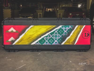 Custom Painting on SKB Guitar Case