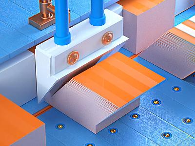 Stacking cubes stack render octane c4d sharp animation blue orange