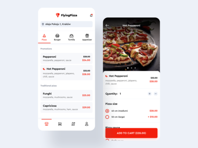 Flying Pizza App