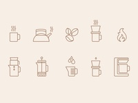 Starbucks: Home Brew / Pour Over Icon Set