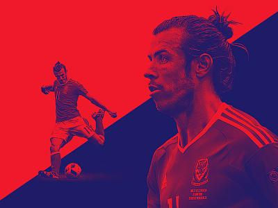 TheRinger.com : Euro 2016 Profiles : Gareth Bale soccer football the ringer bale wales euros art direction design retouch composite