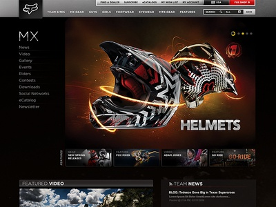 FOX Racing Redesign : Team Sites News Page