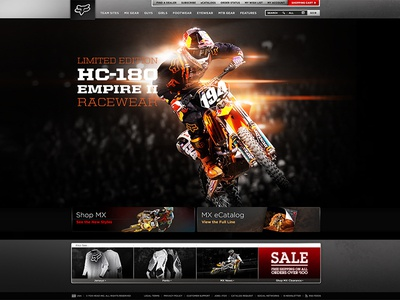 FOX Racing Redesign : Motocross Category Page