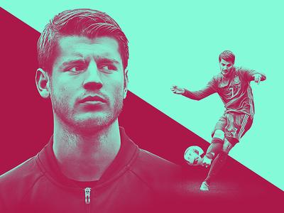 TheRinger.com : Euro 2016 Profiles : Álvaro Morata composite retouch design art direction euros spain morata the ringer football soccer