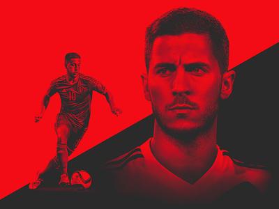 TheRinger.com : Euro 2016 Profiles : Eden Hazard soccer football the ringer hazard belgium euros art direction design retouch composite