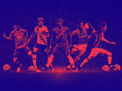 TheRinger.com : Premiere League Preview : Rising Stars soccer football the ringer rising stars premiere league epl art direction design retouch composite