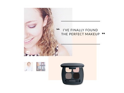 Bare Minerals Redesign : Gallery bare minerals bare beauty bare escentuals art direction natural makeup web design responsive cosmetics glamour rwd
