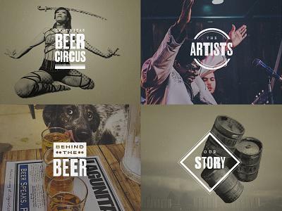 Lagunitas Redesign : Lagunitas Music : Grid Menu lagunitas beer art direction graphic design brewery music petaluma sonoma california craft beer ipa