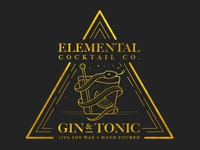 Elemental Cocktail Co. : Gin & Tonic Label
