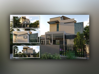 3d Modeling & Animation for Minimalist Home Design animation rendering modeling home design architecture